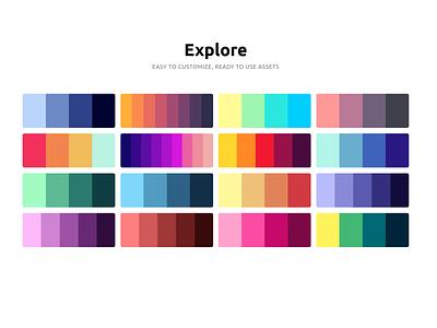Explore design system color scale color palette colors css