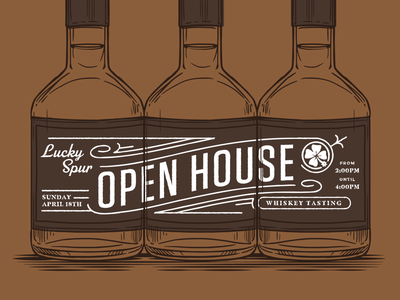 Whiskey Open House dfw preuve digital preuve jack daniels whiskey tasting western wedding venue wedding ranch open house illustration liquor packaging whiskey