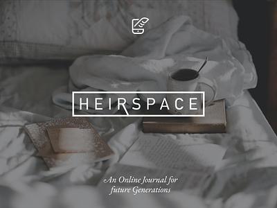 HeirSpace Brand sanserif logo journal blog gender neutral technology brand webapp backend