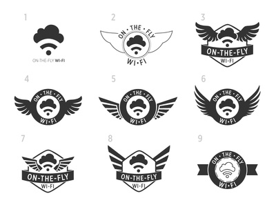 Design Concepts for On The Fly Wi-Fi Logo