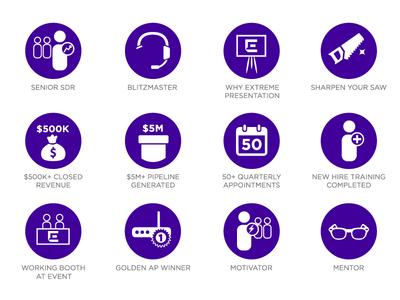 Sales Recognition Badges
