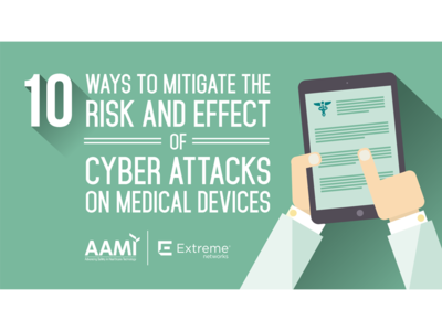 Medical Device Security Infographic (AAMI and Extreme Networks)