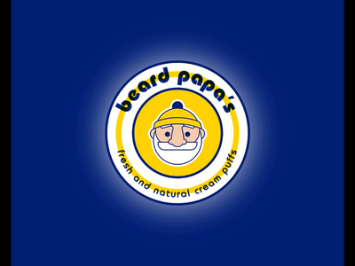 Beard Papa's Logo Redesign Concept logo redesign redesigned logos redesign concept redesign flat illustration flatdesign gif adobe illustrator adobe branding vector characterillustration characterdesign