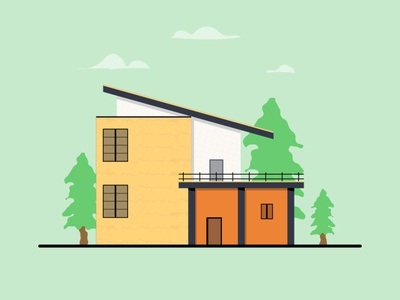 Vector House design vectorart illustration art vector illustration flat illustration