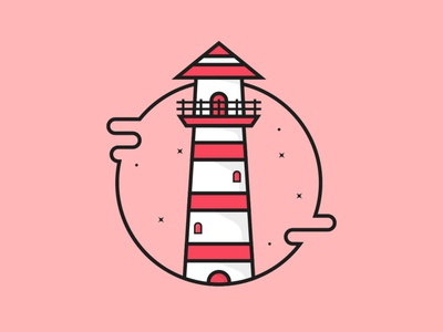Light House lighthouse vector vectorart illustraion illustration art flat illustration