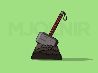 Vector Mjolnir mjolnir design illustration vectorart illustraion vector illustration art flat illustration