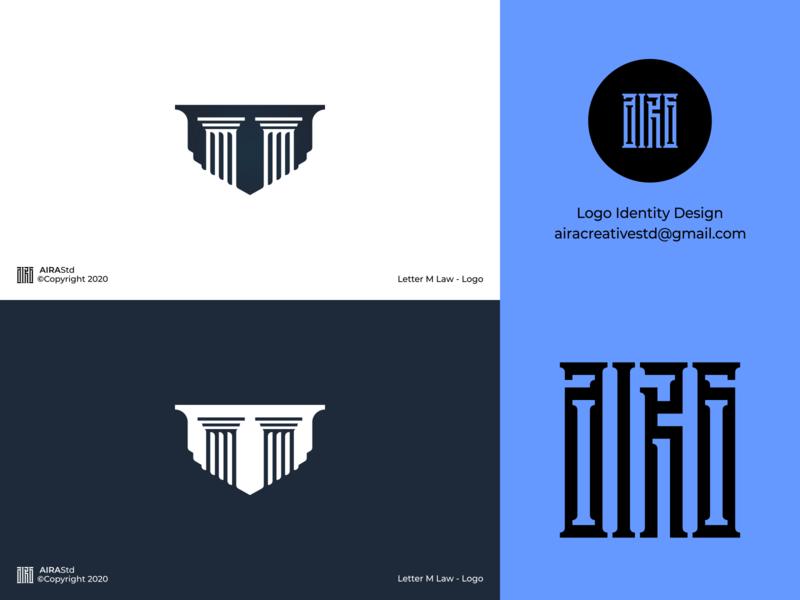 Letter M Law logotype m logo column lawyer logo law logo lettermark logo letter m logo letter logo minimal logodesign logo icon flat design