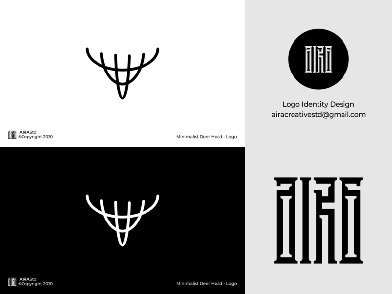 Minimalist Deer Head design minimal icon logo forsale minimalist logo logo for sale logo designer logodesign logo design logo animal logo deer deer logo