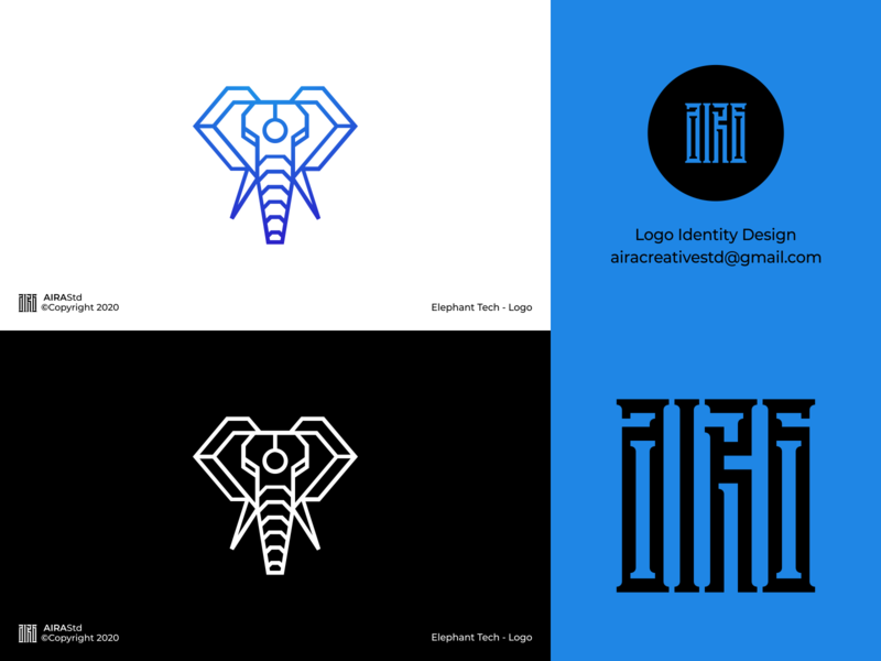Elephant Tech industry logo tech logo designer logo animal logo logo design logo for sale logo designer icon design logo logodesign minimalist logo elephant logo elephant
