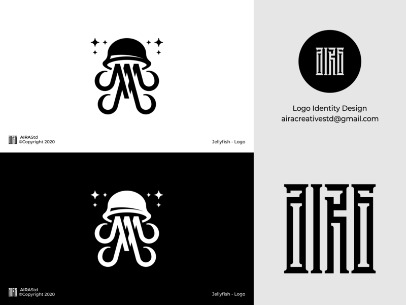 Jellyfish marine logo marine sea logo sea animal jellyfish logo jellyfish designer logo animal logo logo for sale logo designer minimalist logo minimal icon design logo logodesign