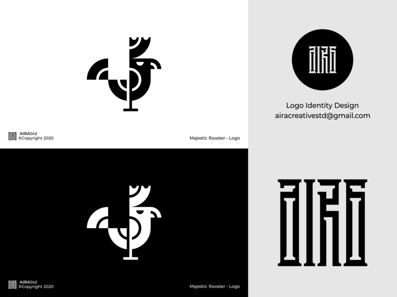 Majestic Rooster logo designers logo designer logo forsale minimalist logo minimal icon logo design logodesign poultry farm animal logo hen logo hen chicken logo chicken rooster logo rooster