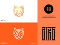 Tiger Bot robot tiger logo tiger animal designer logo flat animal logo logo for sale logo designer minimalist logo minimal icon logo design logodesign