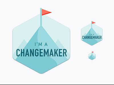 Changemaker – Take 2 change badge illustration