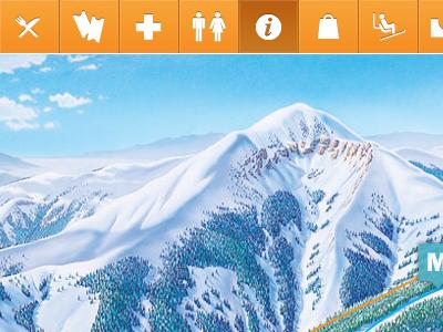 Ski Apache - Interactive Map by Chelsea Otakan - Dribbble on