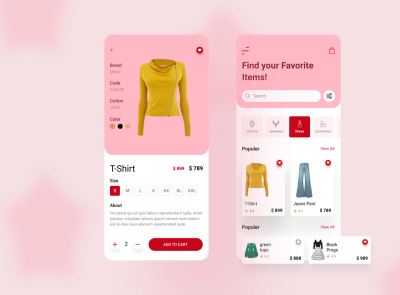Dress Ecommerce App Free fashion dress ecommerce freebie ui kit product design mobile minimal interface design app