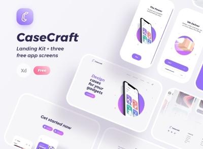 Case Craft UI Kit Free craft case freebie ui kit product design mobile minimal interface design app