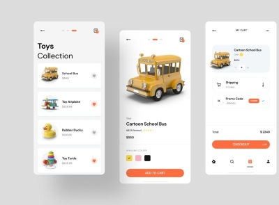Toy Store App Free for Figma store toy freebie ui kit product design mobile minimal interface design app