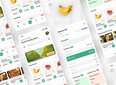 Grocery Shopping App Free shopping grocery freebie ui kit product design mobile minimal interface design app