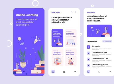 Babbel Online Learning App Free babble learning online freebie ui kit product design mobile minimal interface design app
