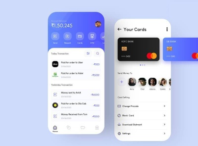 Unix Banking App Free unix wallet banking ui kit product design mobile minimal interface design app