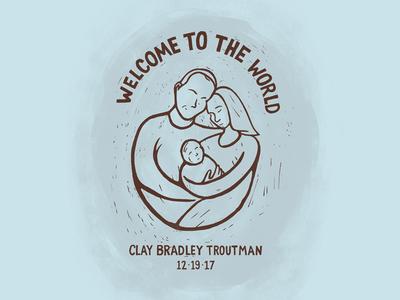 Nephew! illustration birth baby