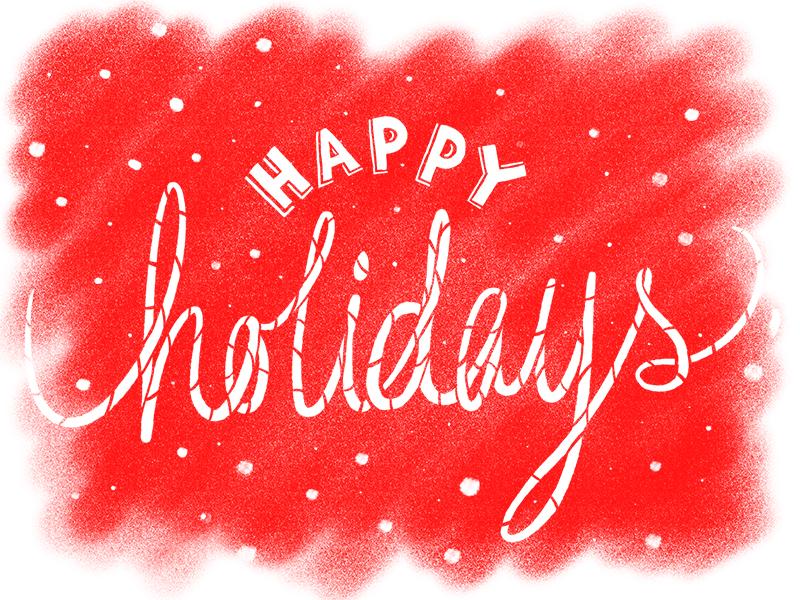 Happy Holidays snow type christmas holidays