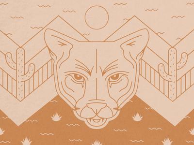 Mountain Lion Tee mountain lion cat preservation adventure outdoors wild illustration