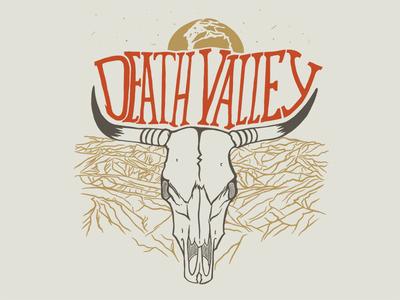 Death Valley illustration type skull national park death valley