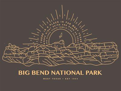 Big Bend nature illustration national park big bend