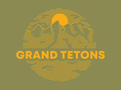 Grand Tetons WIP illustration national park grand tetons nature