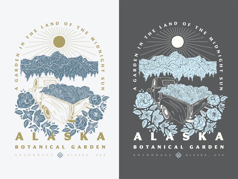 Alaska Botanical Garden poster flowers floral garden alaska