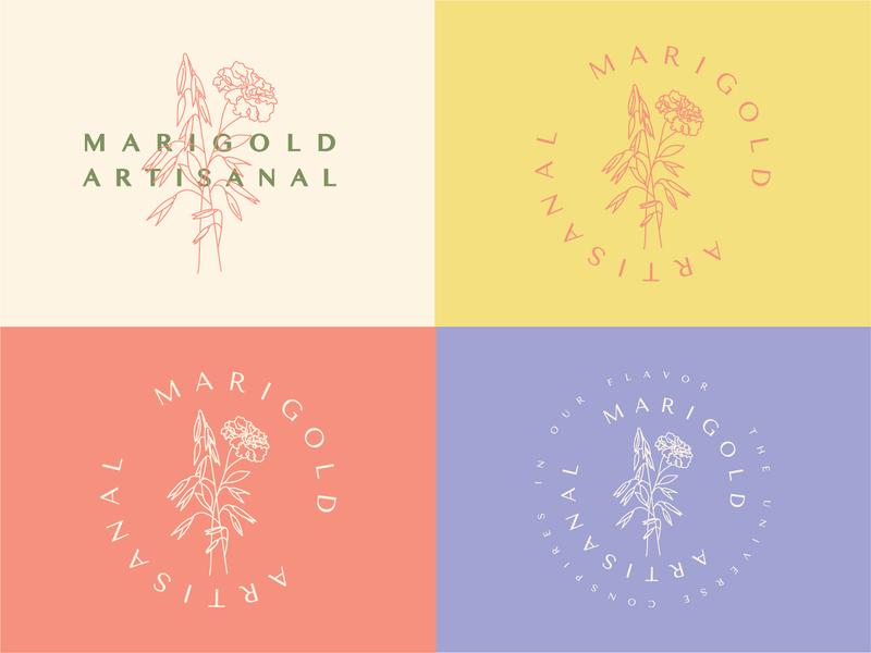 Marigold Artisanal (killed direction) natural brand granola flower