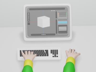 3D Design web ux ui illustration design blender3d