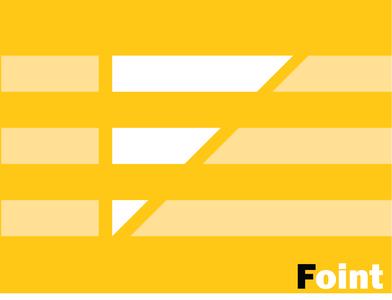Foint Letter F unlimited special vector minimal logo illustration design company business branding