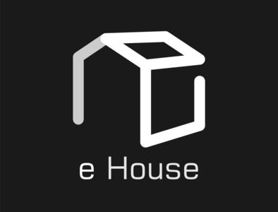 eHouse Minimal Logo unlimited company branding modern design illustration vector special logo minimal