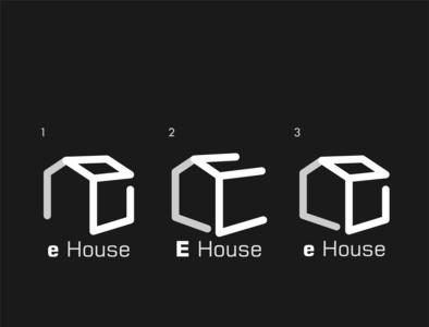 e House Minimal Logo illustration unlimited modern house real estate company vector special minimal design logo