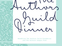Authors Guild benefit invite