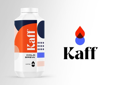 Kaff Cold Brew pt.2 midcentury drink food beverage coffee identity logo packaging branding