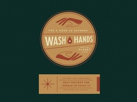 Wash Hands hand wash wellness covid19 sticker label badge branding