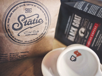 Static black goat coffees