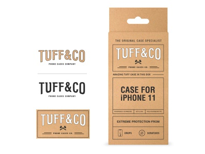 Tuff & Co. Phone Case Packaging startup nyc phone box typography design label identity packaging logo branding