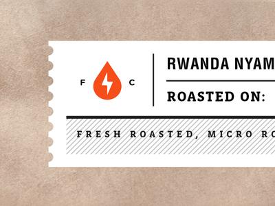 Function Coffee Label 1 logo packaging coffee branding roasters label miami iconography identity espresso florida bag
