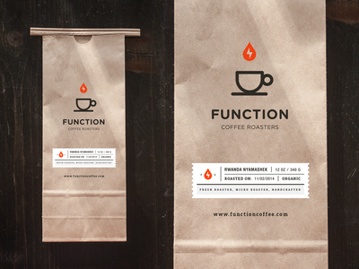 Function Coffee Bag bag florida espresso identity iconography miami label roasters branding coffee packaging logo