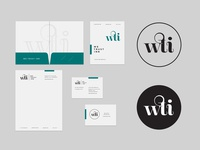 Wti Brand Collateral real estate rental vacation travel typography identity logo branding
