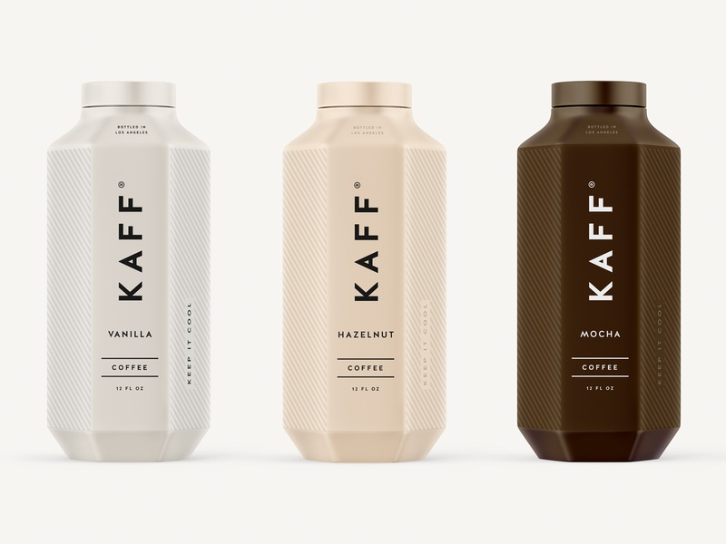 Kaff Coffee Bottles identity startup espresso drink food logo packaging typography design cold coffee branding beverage