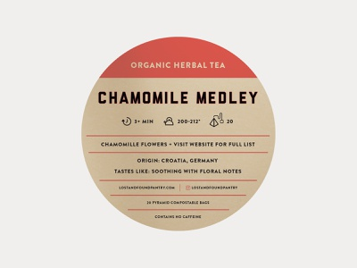 L&F Tea Label startup branding hot drink beverage healthy well being organic packaging tea label