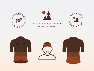 Adventure Collection by Heavy Pedal design badge outdoor culture bike gravel cycling kit cycling logo branding