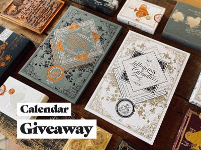 Letterpress Calendar 2021 Giveaway inspired vintage calendar letterpress design print