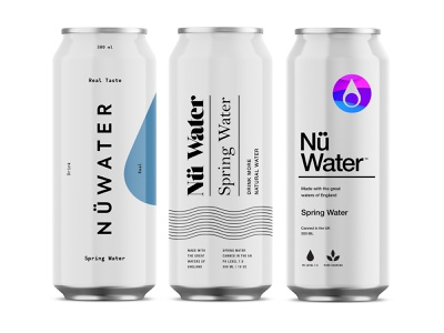 Nü Water Branding & Packaging Design spring sparkling can water identity packaging logo branding