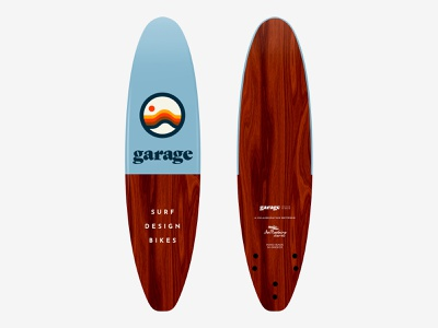 Garage Surfboard greece surfboard surf logo branding